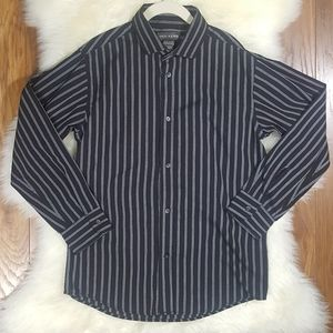 Dockers Boys Striped Long Sleeve Button Down Med